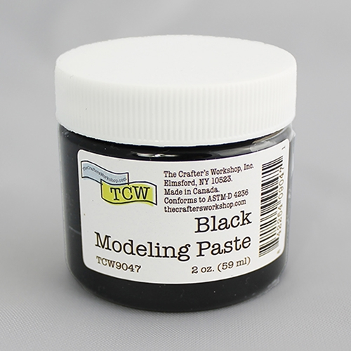 The Crafter's Workshop BLACK MODELING PASTE 2oz tcw9047 Preview Image