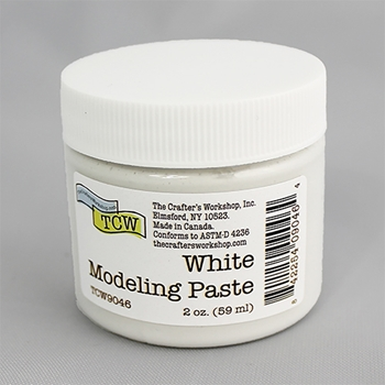 The Crafter's Workshop WHITE MODELING PASTE 2oz tcw9046