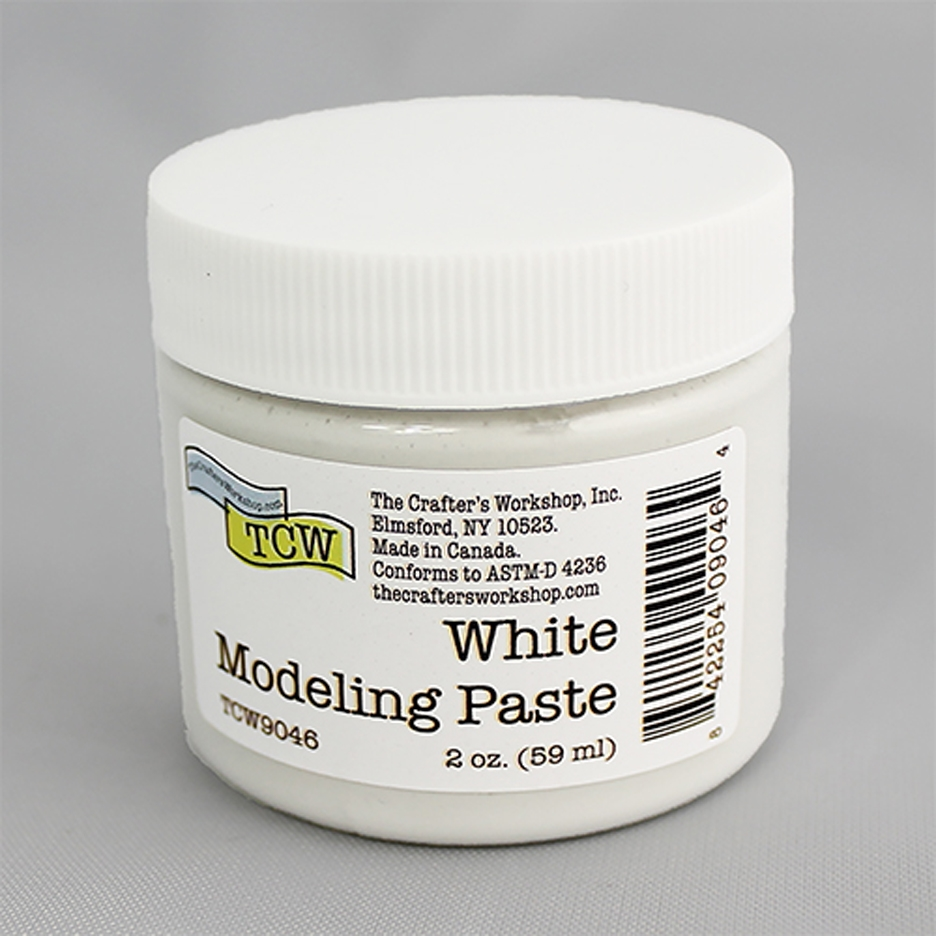 The Crafter's Workshop WHITE MODELING PASTE 2oz tcw9046 zoom image