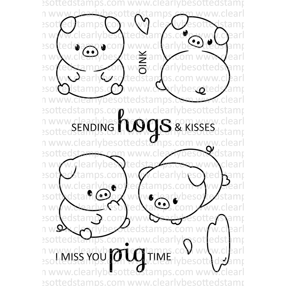 Clearly Besotted PERFECT PIGS Clear Stamps zoom image