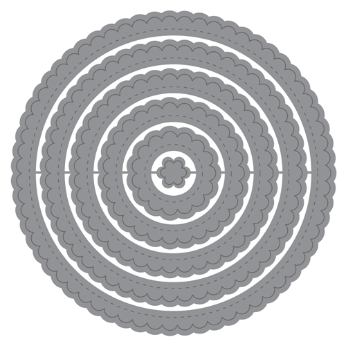 Honey Bee STITCHED SCALLOP CIRCLES Dies hbds-ssc Preview Image