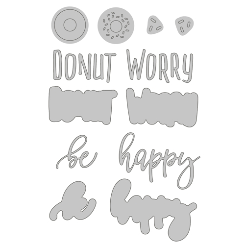 Honey Bee DONUT WORRY Dies hbds-111* Preview Image