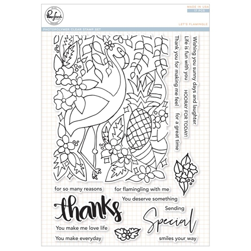 Pinkfresh Studio LET'S FLAMINGLE Clear Stamp Set pfcs2918* Preview Image