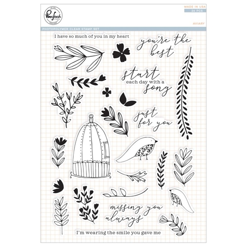Pinkfresh Studio AVIARY Clear Stamp Set pfcs3118 Preview Image