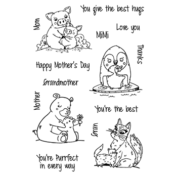 Joy Clair MOTHER'S DAY LOVE Clear Stamp Set clr02160*