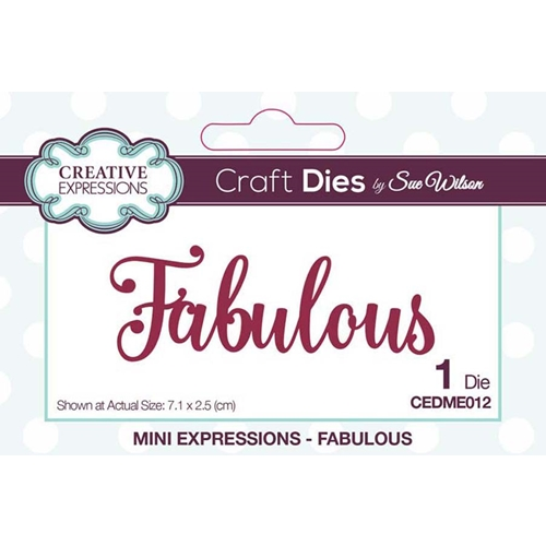 Creative Expressions FABULOUS Sue Wilson Mini Expressions Die Set cedme012 Preview Image