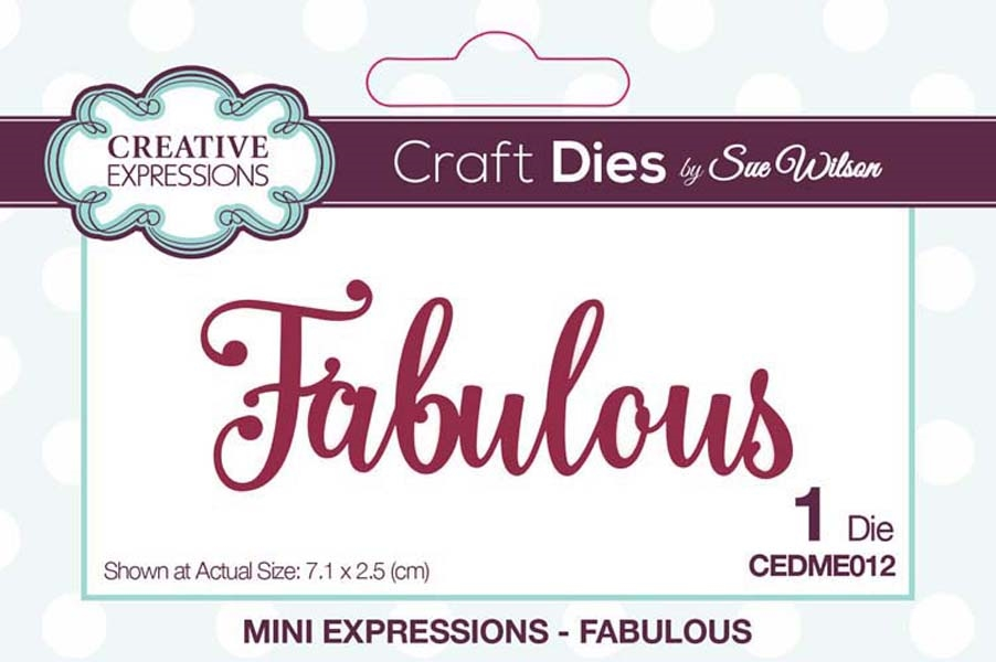 Creative Expressions FABULOUS Sue Wilson Mini Expressions Die Set cedme012 zoom image