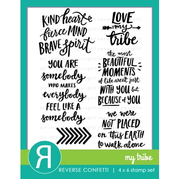 Reverse Confetti MY TRIBE Clear Stamps