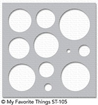 My Favorite Things BASIC SHAPES CIRCLES Mix-ables Template Stencil ST105 Preview Image