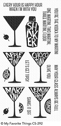 My Favorite Things MARTINI TIME Clear Stamps CS292 Preview Image