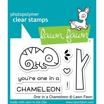 Lawn Fawn ONE IN A CHAMELEON Clear Stamps LF1549