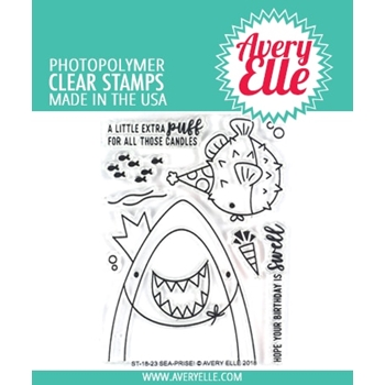 Avery Elle Clear Stamps SEA-PRISE! ST 18 23