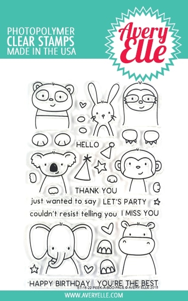 Avery Elle Clear Stamps PEEK A BOO PALS ST 18 22 zoom image