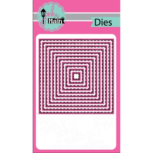 Pink and Main STITCHED SQUARES Dies PNM150 Preview Image