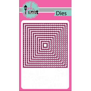 Pink and Main STITCHED SQUARES Dies PNM150