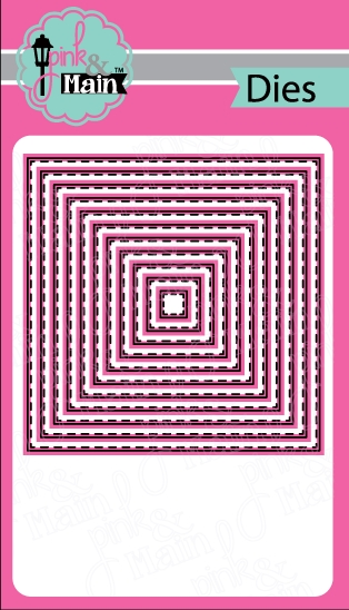 Pink and Main STITCHED SQUARES Dies PNM150 zoom image