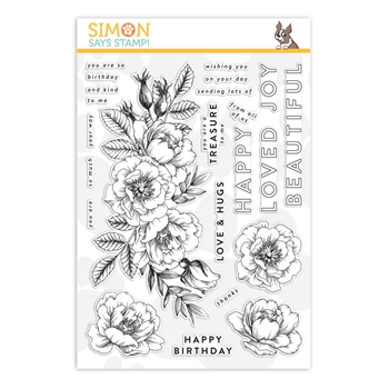 Simon Says Clear Stamps BEAUTIFUL FLOWERS sss101826