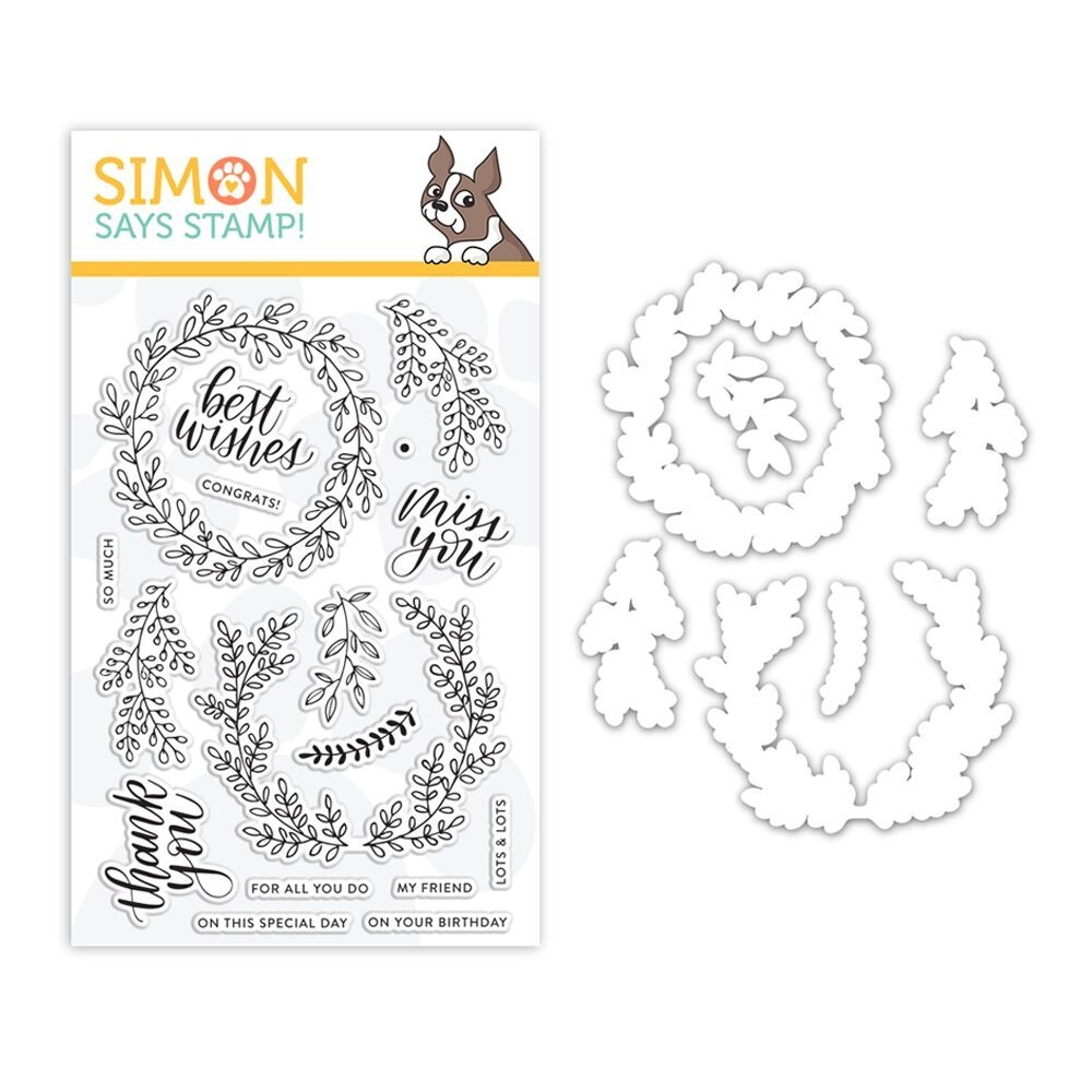 Simon Says Stamps And Dies WREATH GREETINGS set318wg Sending Sunshine * zoom image