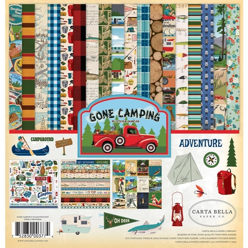 Carta Bella GONE CAMPING 12 x 12 Collection Kit cbgc85016 Preview Image
