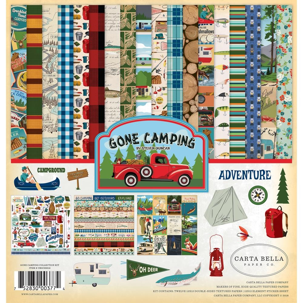 Carta Bella GONE CAMPING 12 x 12 Collection Kit cbgc85016 zoom image