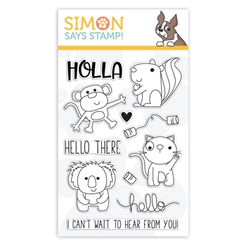 Simon Says Clear Stamps HELLO THERE sss101845 Sending Sunshine *