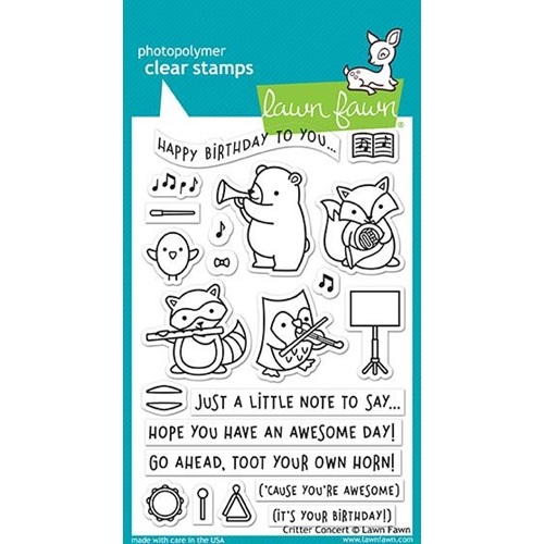 Lawn Fawn CRITTER CONCERT Clear Stamps LF1682 Preview Image