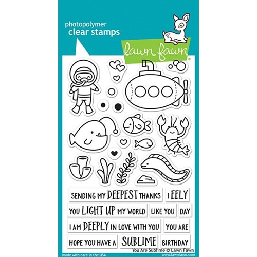 Lawn Fawn YOU ARE SUBLIME Clear Stamps LF1686 Preview Image
