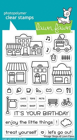 Lawn Fawn VILLAGE SHOPS Clear Stamps LF1692 zoom image