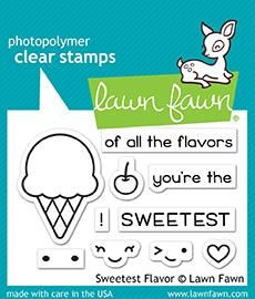 Lawn Fawn SWEETEST FLAVOR Clear Stamps LF1698 zoom image