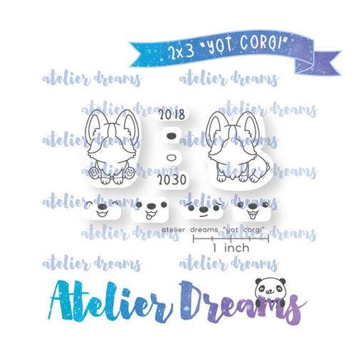 Atelier Dreams YEAR OF THE CORGI Clear Stamp Set adm049 Preview Image