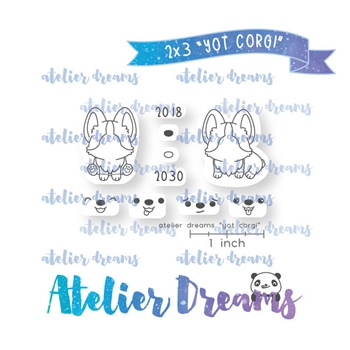 Atelier Dreams YEAR OF THE CORGI Clear Stamp Set adm049