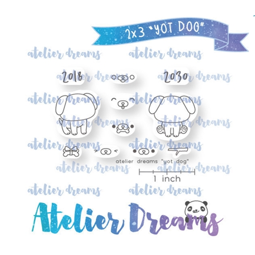 Atelier Dreams YEAR OF THE DOG Clear Stamp Set adm050 Preview Image