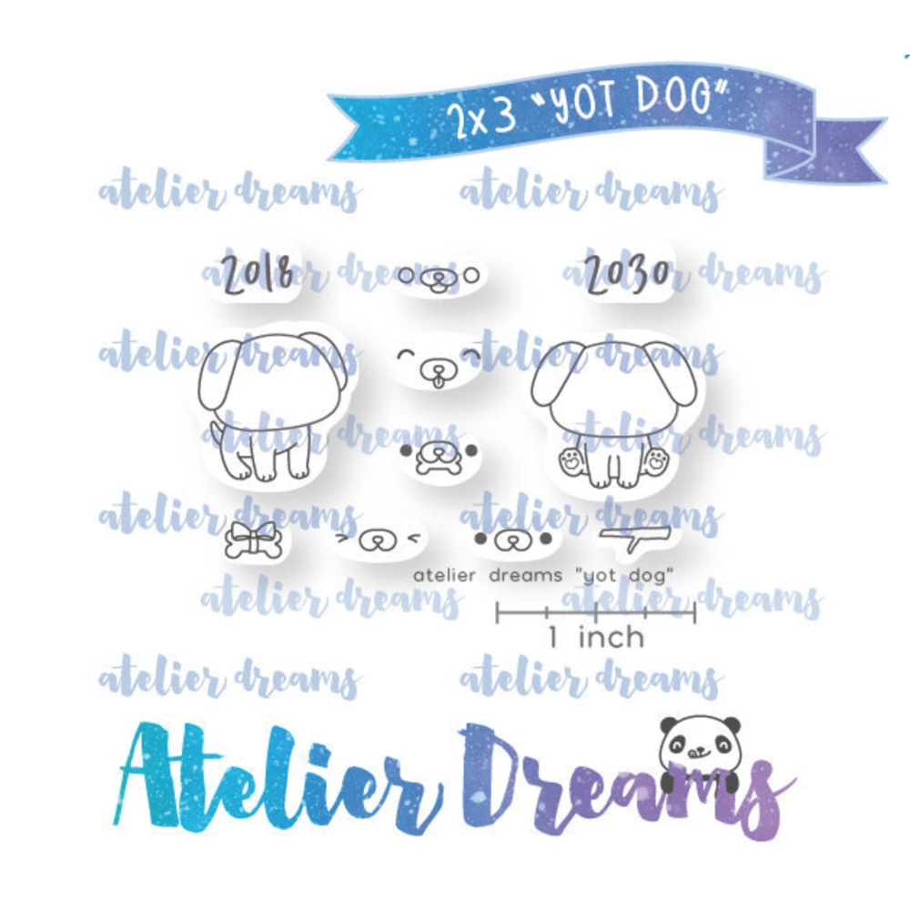 Atelier Dreams YEAR OF THE DOG Clear Stamp Set adm050 zoom image