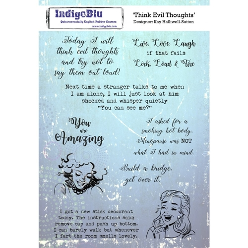 IndigoBlu Cling Stamp THINK EVIL Rubber ind0427 Preview Image