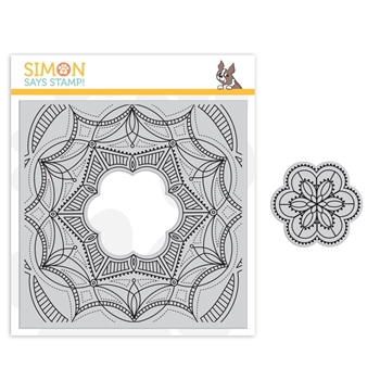 Simon Says Cling Stamp CENTER CUT FANCY FLOWER sss101849 Sending Sunshine *