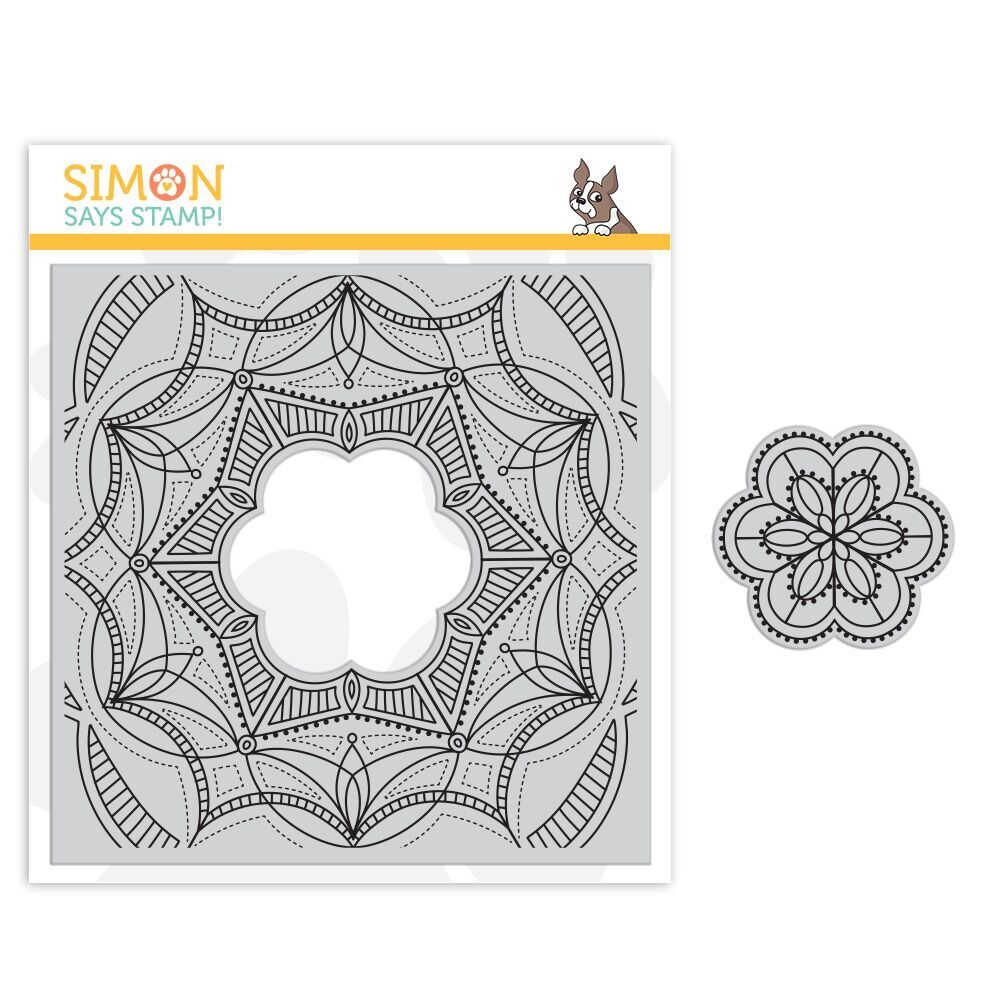 Simon Says Cling Stamp CENTER CUT FANCY FLOWER sss101849 Sending Sunshine * zoom image