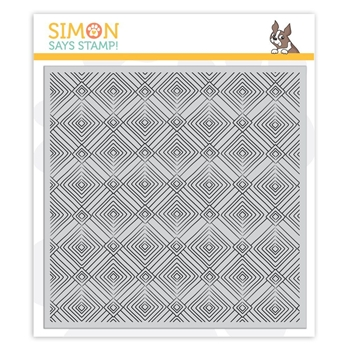 Simon Says Cling Rubber Stamp DECO DIAMONDS Background sss101861 Sending Sunshine