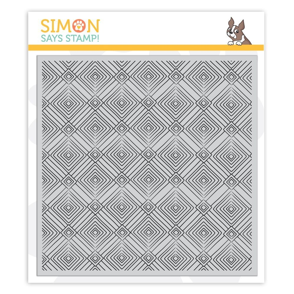 Simon Says Cling Rubber Stamp DECO DIAMONDS Background sss101861 Sending Sunshine zoom image