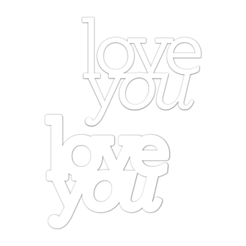 CZ Design Wafer Dies LOVE YOU czd30 Sending Sunshine Preview Image