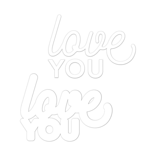 CZ Design Wafer Dies LOVE YOU 2 czd31 Sending Sunshine Preview Image