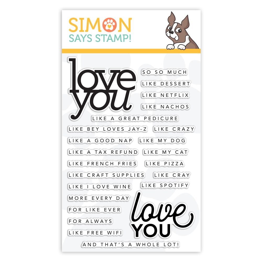 CZ Design Clear Stamps LOVE YOU LIKE cz21 Sending Sunshine zoom image