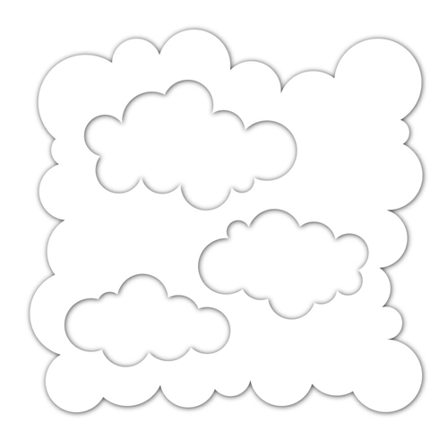 Simon Says Stamp Stencils CLOUDS FOR DAYS ssst121423 Sending Sunshine Preview Image
