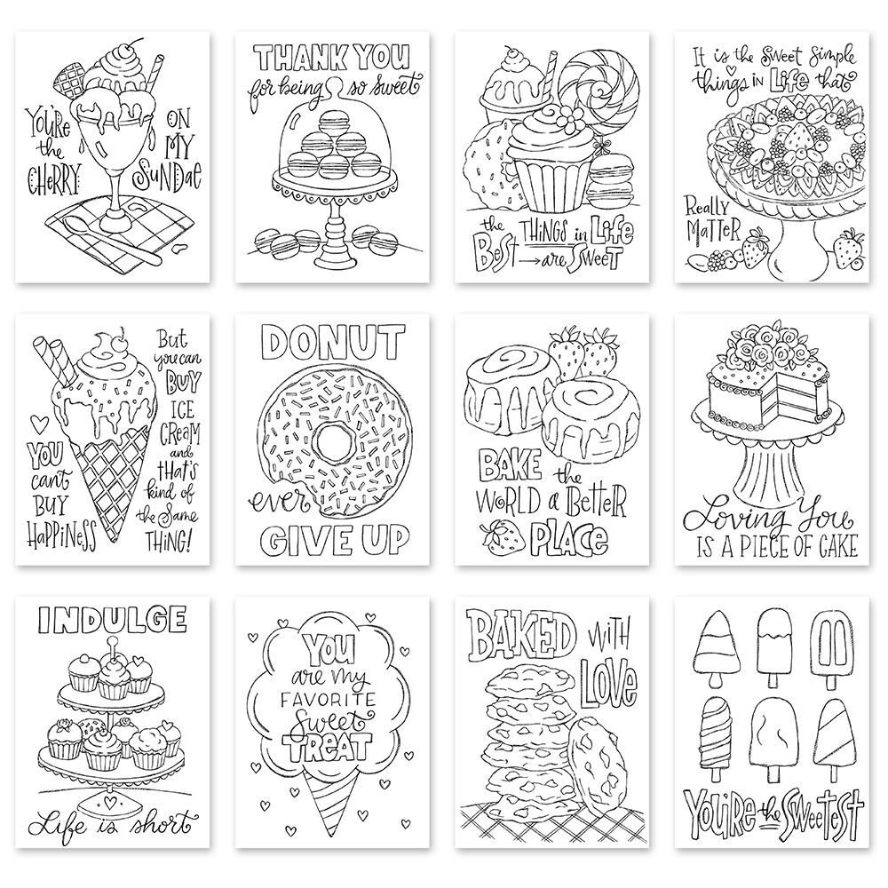 Simon Says Stamp Suzy's SWEET TREATS Watercolor Prints szwst18 Sending Sunshine zoom image