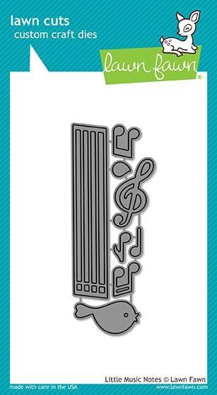 Lawn Fawn LITTLE MUSIC NOTES Die Cuts LF1712 zoom image