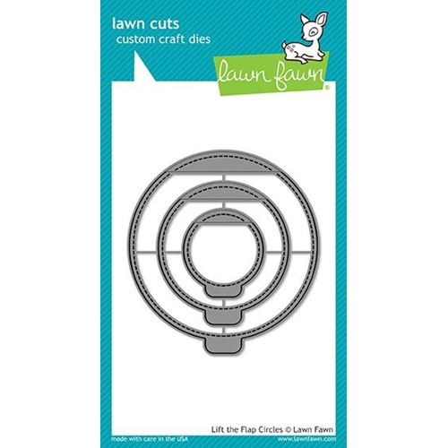 Lawn Fawn LIFT THE FLAP CIRCLES Die Cuts LF1714 Preview Image