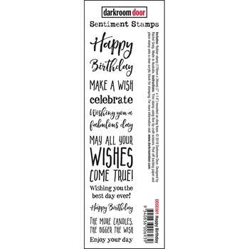 Darkroom Door Cling HAPPY BIRTHDAY Sentiment Stamp ddse001