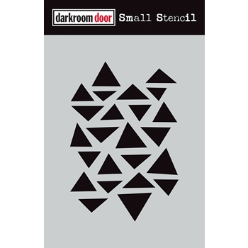 Darkroom Door ARTY TRIANGLES Small Stencil ddss017