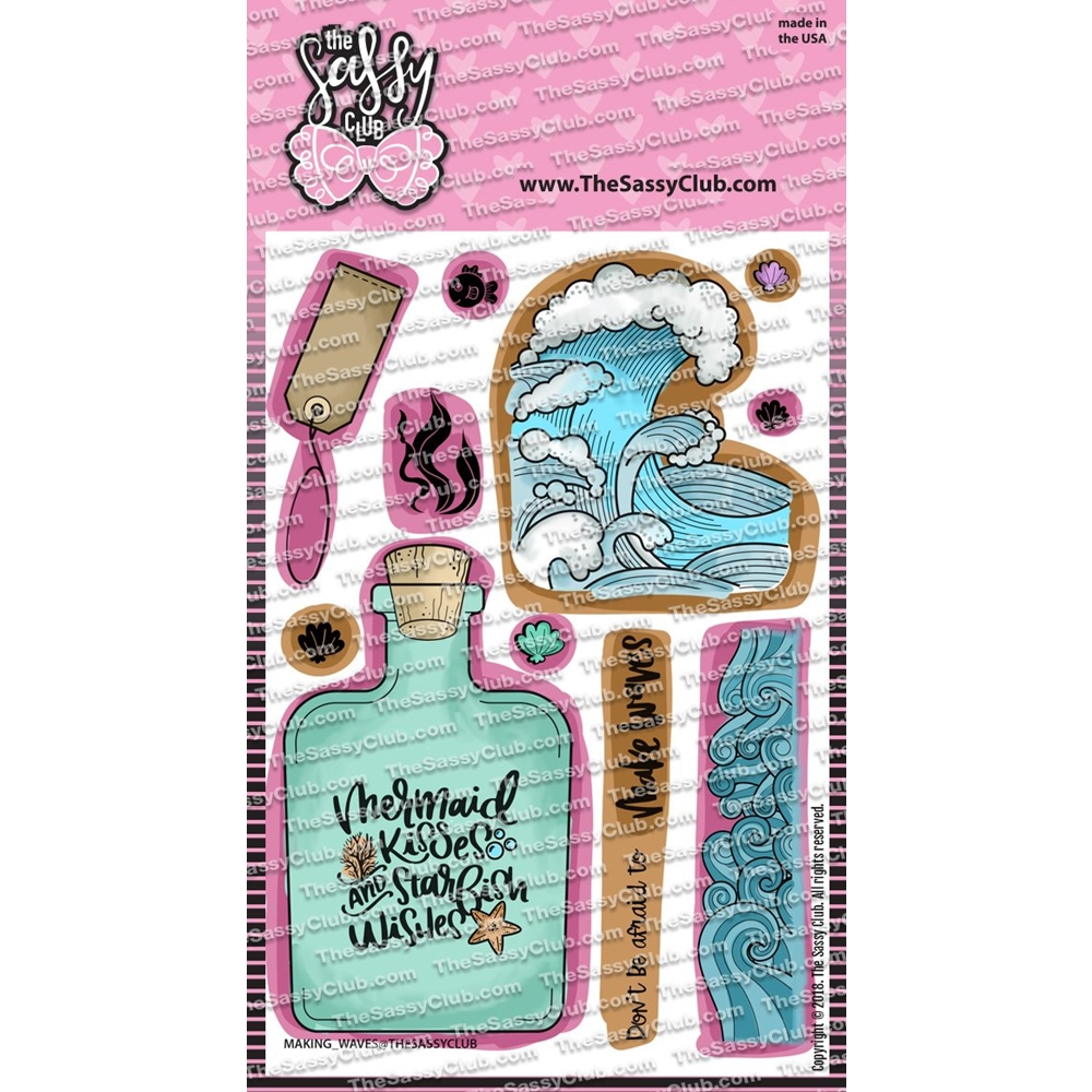The Sassy Club MAKING WAVES Clear Stamps tscl150* zoom image