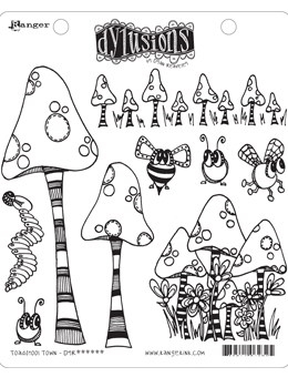 Dyan Reaveley TOADSTOOL TOWN Cling Stamp Set Dylusions DYR63254 zoom image