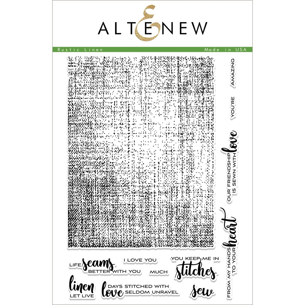Altenew RUSTIC LINEN Clear Stamps ALT2269 zoom image